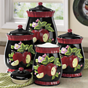 4 piece apple canister set