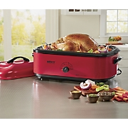 Large-Capacity 18-Qt. Red Roaster