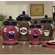 Set of 4 Coffee Canisters