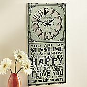 sunshine sign clock