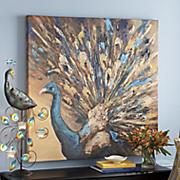 Proud Peacock Canvas Art