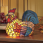 stained glass hen light