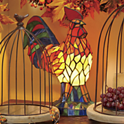 stained glass rooster light
