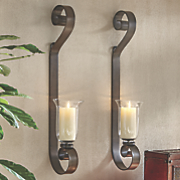 set of 2 curl wall sconces