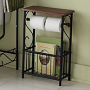 Scroll Bathroom Tissue/Magazine Holder