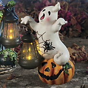 halloween lantern ghost figurine