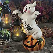 halloween lantern ghost figurine