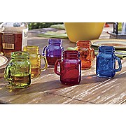 6 assorted mason jar shooters