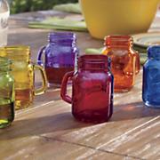 6 assorted mason jar shooters