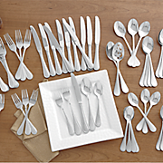 62 pc  carlyle sand flatware