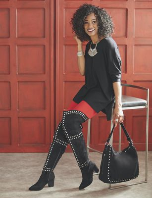 Zyirah Bag and Thigh-High Boot