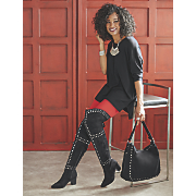 zyirah bag and thigh high boot