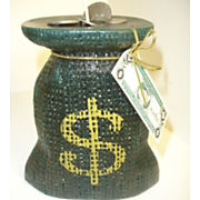 burlap money bag candle