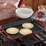 cast iron enameled griddle