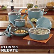Rachael Ray's 12-Piece Nonstick Cucina Porcelain Cookware Set