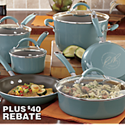 rachael ray s 12 pc nonstick cucina porcelain cookware set