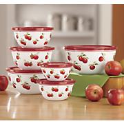 harvest apple 12pc enamel on steel bowls