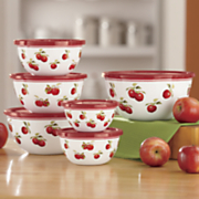harvest apple 12pc enamel on steel bowls
