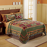 flora and fauna throw style bedspread