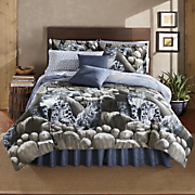 Snow Leopard Complete Bed Set and Window Treatments