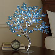 LED Lit Teal Tree