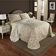 Laurel Scroll Reversible Bedspread