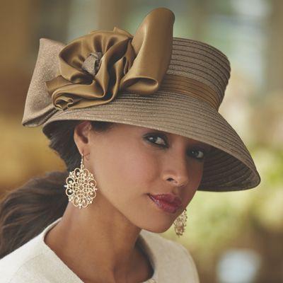 Satin Rose Hat