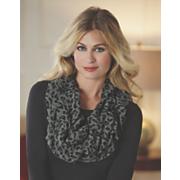 leopard ruffle infinity scarf