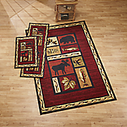3 pc cabin rug set