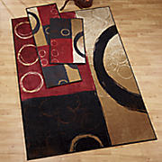 3 pc circles rug set