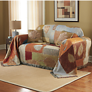 woven tapestry fall inspiration furniture throw