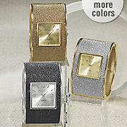 glitter hinge cuff watch