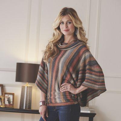 Cowl Neck Stripe Sweater