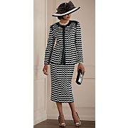 Art Deco Hat and Skirt Suit