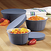 Set of 3 Save and Serve Bowls by Paula Deen