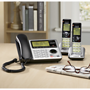 corded cordless phone with answering system