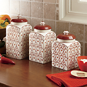 Ginny's Brand Set of 3 Filigree Canisters