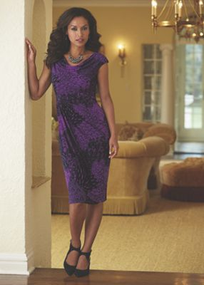 Purple Plumes Dress