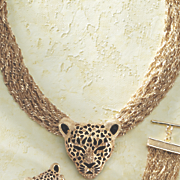 3 d leopard necklace