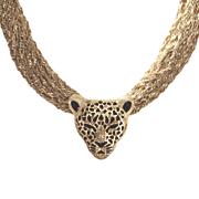 3 d leopard necklace