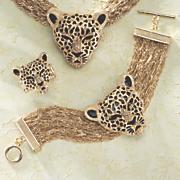 3 d leopard bracelet