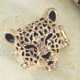 3-D Leopard Stretch Ring