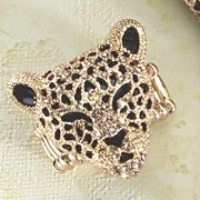 3 d leopard stretch ring