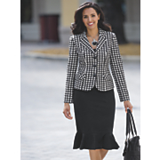Houndstooth Skirt Suit