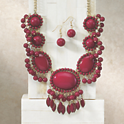 show stopper necklace earring set