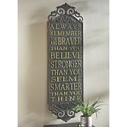 ornate quote plaque