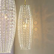 small crystal lamp