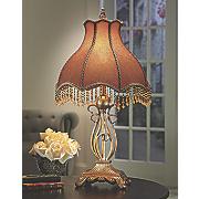 victorian beaded lamp