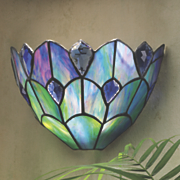 remote control stained glass sconce