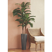 tall faux palm tree